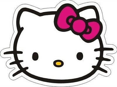 "Hello Kitty Pink Bow (Face) Sticker - 3.5"" x 4.75"""