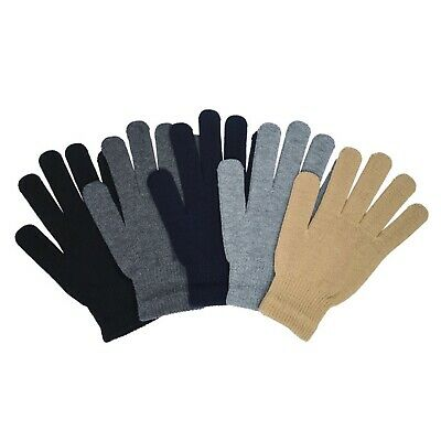 Casual Knit Winter Gloves Fashion Solid Plain Color Black,Navy,Gray New One Size