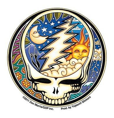 """(#95) Grateful Dead Night & Day STEAL YOUR FACE 2-1/2"""" sticker (474) ©GDP"""