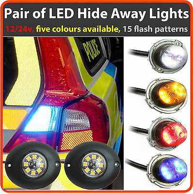 12/24V Covert LED HIDEAWAY Lights For Ambulance, Paramedic, like Premier Hazard