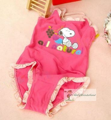 New Baby Girls Snoopy One Piece Swimwear Swimsuit Surf Clothing Size 00,0,1,2