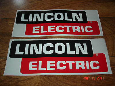 Genuine 12 inch LINCOLN ELECTRIC Welder Replacement Decals / Stickers