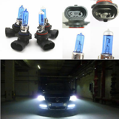 2 Pair Set LOW/HIGH XENON HID HALOGEN HEADLIGHT BULBS 9005 & 9006 5900K 12V 100W