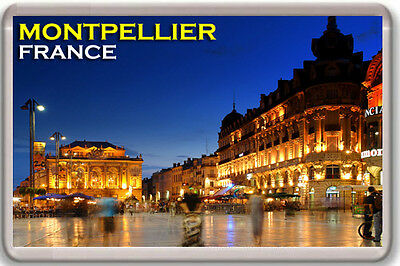 Montpellier France Fridge Magnet Souvenir Iman Nevera