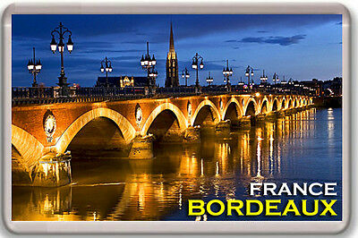 Bordeaux France Fridge Magnet Souvenir Mod2 Iman Nevera