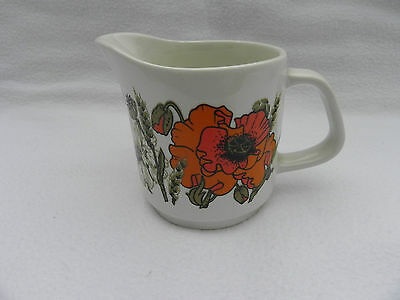 Meakin STUDIO POPPY MILK / CREAM JUG 6.5cm Tall.