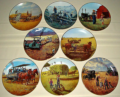 SET EMMETT KAYE John Deere Tractor & Old Farm Machinery FARMING HEARTLAND Plates