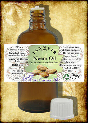 100% Pure Neem Oil  200ml, 100ml, 50ml, 30ml, 10ml+10% Free