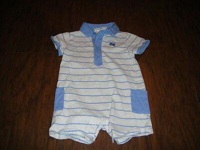 Janie And Jack 3-6 Blue White Striped Airplane Outfit '13 Line