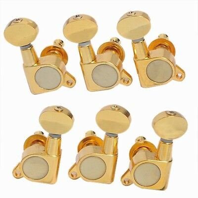 One Set Gold Sealed Guitar Tuning Pegs Tuners Keys Machine Heads 6R/6L/3R3L