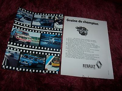 RENAULT 12 Gordini 1973 Publicité magazine/ Original French Advertising AD //