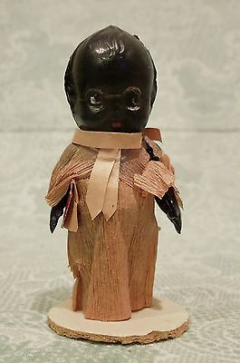 Old Vintage Antique Teeny Tiny Doll African Black American Preacher Minister M