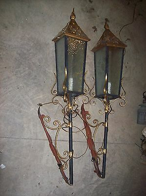 matching hand worked large iron sconces   (LT 98)
