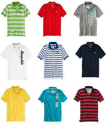 Two Mens Aeropostale Polo Shirts Choose From XS S M L XL 2XL or 3XL NWT LOT OF 2