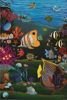 POSTER : ART: FISH & MARINE:  SEALIFE BY RAUL del RIO - FREE SHIP #PTW534 RC20 H