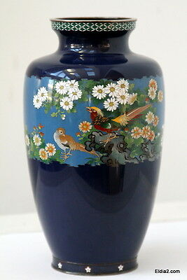 Antique Chinese or Japaanese Cloisonne vase signed top quality Ando mark