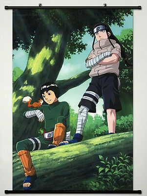 Home Decor Anime Naruto Wall Scroll Poster Hyuuga Neji & Rock Lee 23.6X35.4-A426