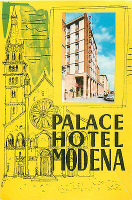 Palace Hotel ~MODENA ITALY~ Beautiful & Artistic Old Luggage Label