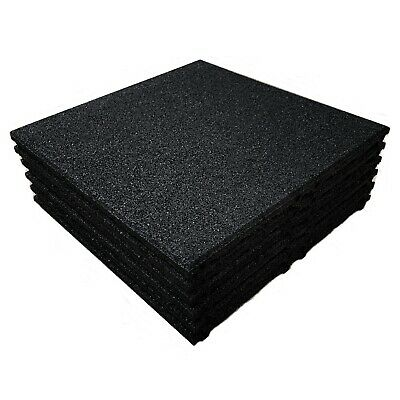 Black - Rubber Playground Tiles / Mats - Play Areas - Swings - Interlocking