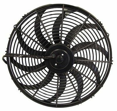 16 Inch 12V Black Electric Cooling Fan Performance Thermo Fan 12Volt