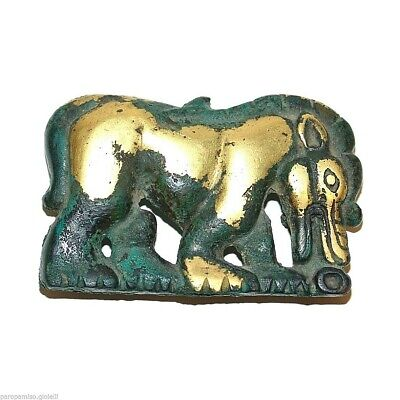 Ordos Gilt Bronze Plaque, Mongolia-China, Art animalier.