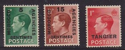 (RP14) 1937 GB agencies morocco tangier mix of 4 stamps