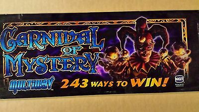 IGT Carnival of Mystery Slot Machine Glass - Slant Top