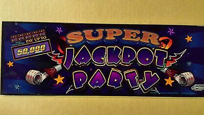 WMS Super Jackpot Party Slot Machine Glass - Slant Top
