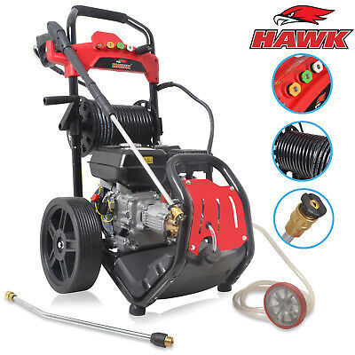 HAWK 210CC 207 BAR 3000psi 8HP PETROL POWER CLEANER HIGH PRESSURE JET WASHER