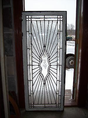 3 available Sunburst window with beveled etched center   (SG 1542)