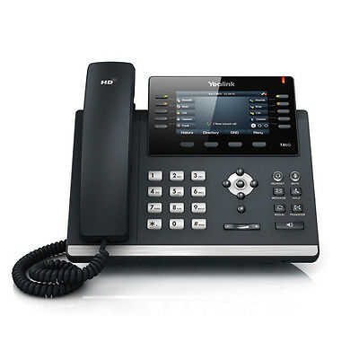 NEW Yealink SIP-T46G Ultra-Elegant Gigabit IP Phone (Black)