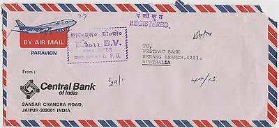 (RQ45) 1990 India registered Airmail central bank of India