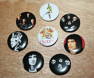 8 piece lot of Queen pins buttons badges