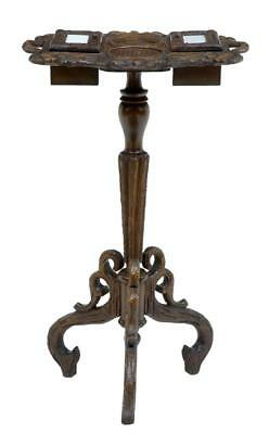 19Th Century Black Forest Carved Oak Tobacco Stand