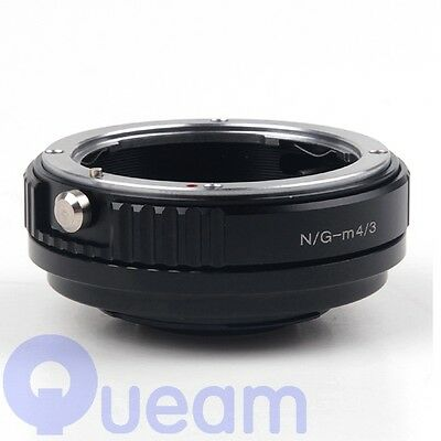 Focal Reducer Speed Booster Adapter Nikon F mount G lens to Micro 4/3 GX7 E-PL6