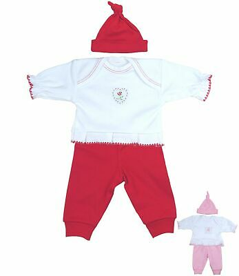 BabyPrem Premature Preemie Baby Clothes Girls 3 Piece Set Top Leggings Hat Gift