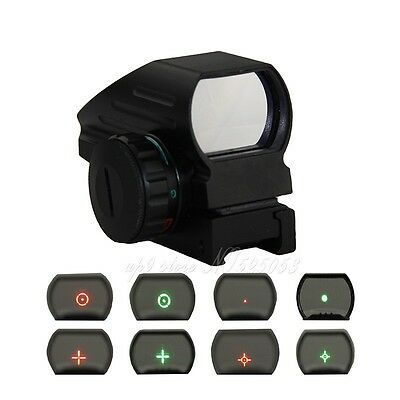 Tactical Hunting Holographic 4 Type Reflex Red Green Dot Sight Scope 20mm Rail