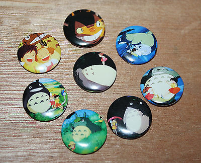 8 piece lot of My Neighbor Totoro pins buttons badges