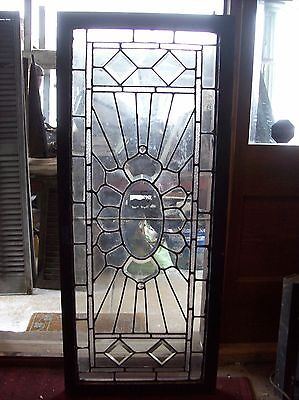 Beveled glass sunburst window   (SG 1574)