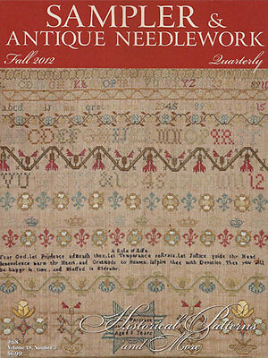 Sampler & Antique Needlework Quarterly Fall 2012 Embroidery Patterns Dutch Band