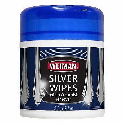 Weiman Silver Polish & Tarnish Remover Cleaner Wipes