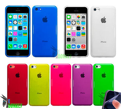 Custodia Case Cover Per Apple Iphone 5C Tpu Gel Trasparente Morbida
