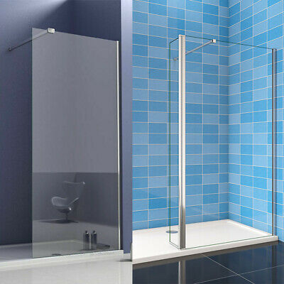 Walk In Wet Room Shower Enclosure Tall Cubicle 8mm Easyclean Glass Screen Panel