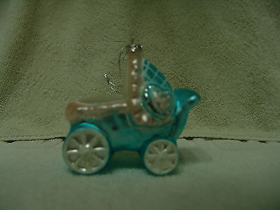 Baby's Christopher Radko? Buggy Christmas Ornament Glass New Free Shipping