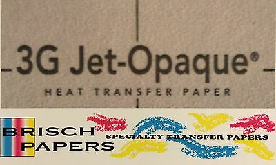 "Inkjet Transfer Paper For Dark Fabric: Neenah ""3G Jet Opaque"" (8.5""x11"") 50 Ct"