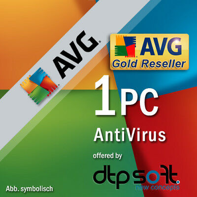 AVG Antivirus 1 PC 2019 VOLLVERSION oder Upgrade 2017 Anti-Virus 2018 DE