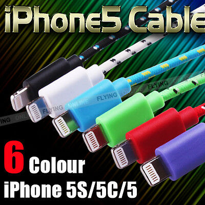 1M Fabric 8Pin USB Syn Charger Cable Cord for iPhone 6 5S 5C iOS 8 certified