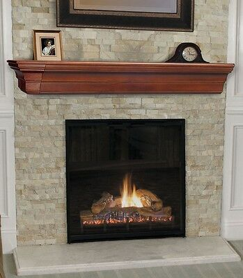 Pearl Mantel Lindon mission fireplace mantel or TV shelf. Pick size, finish.