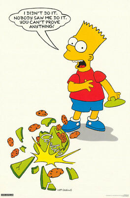 Poster :tv:animation:  Bart Simpson - Cookies - Free Shipping ! #159  Rp61 K
