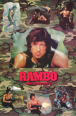 Poster:movie Repro: Rambo - First Blood Pt. 2  - Sylvester Stallone -  Rap29 B